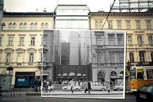 Budapest, V. Károly (Tanács) körút az Astoriánál fortepan_21038