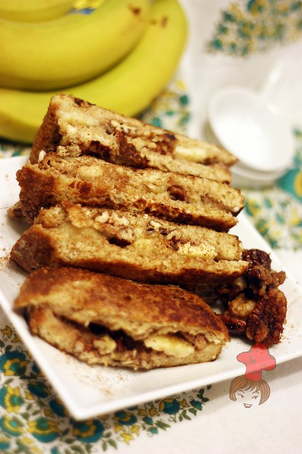 香蕉核桃法式土司  Banan french toast with walnut 13