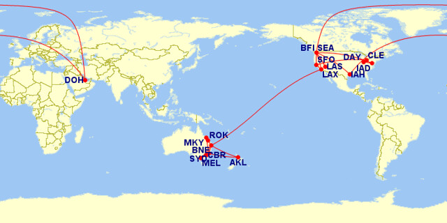 2012 Flight Map