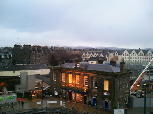View from my room atTune Hotel Edinburgh Haymarket