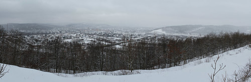 winter panorama snow ny overlook binghamton hugin
