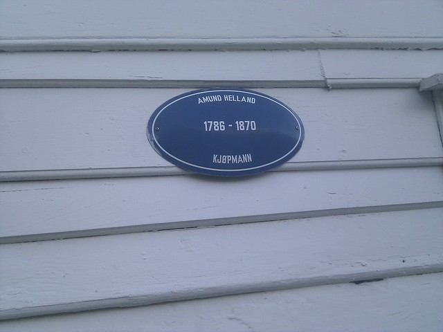 Photo of Amund Helland blue plaque