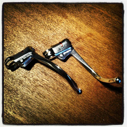 Vintage looking Diacomp brake levers