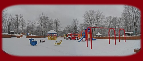 park winter panorama snow playground slide panoramic gazebo pearson pearsonpark