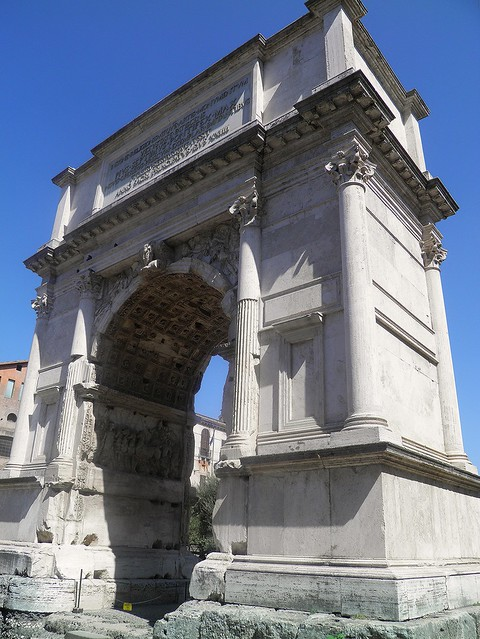 The Arch of Titus, Upper Via Sacra, Rome
