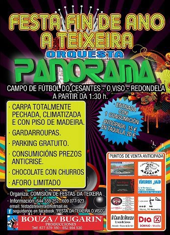 Redondela 2012 - A Teixeira - O Viso - Festa de Fin de Ano