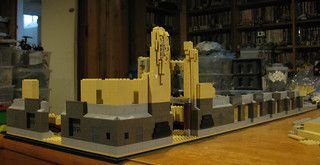 Construction of LEGO model of Guardian Building, Detroit, Michigan - Part 1