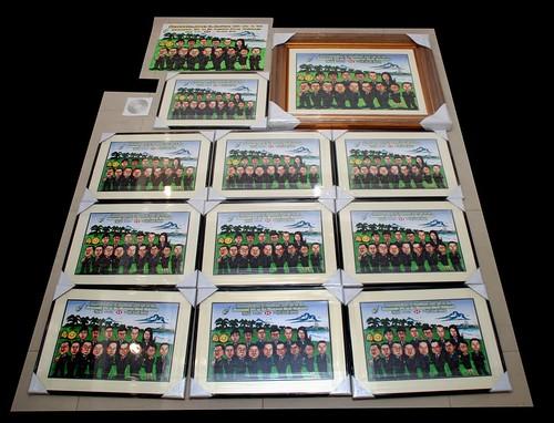 group caricatures for HSBC - Bumitama Agri (original) - duplicates framed up