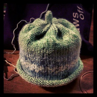 Twin Baby Boy Hat #1 done... #knitting #handmade #baby #hat #knitstagram #knit #love