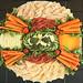 Lorraine Swiss and Low Salt Cheddar cheeses with turkey ham, roll chicken breast, turkey, carrots, cauliflower, cucumber and broccoli.