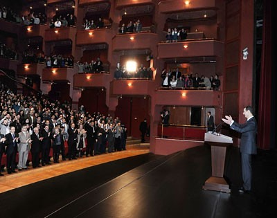 President Bashar al-Assad of Syria addresses his supporters on January 6, 2013. He called for the continued resistance to the imperialist plot to overthrow the government of this Middle Eastern state. by Pan-African News Wire File Photos