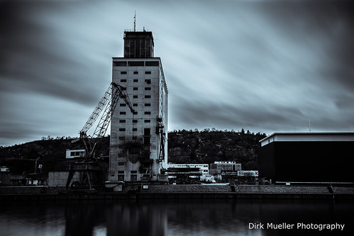 The old crane at the dock by Dirk Mueller Photography