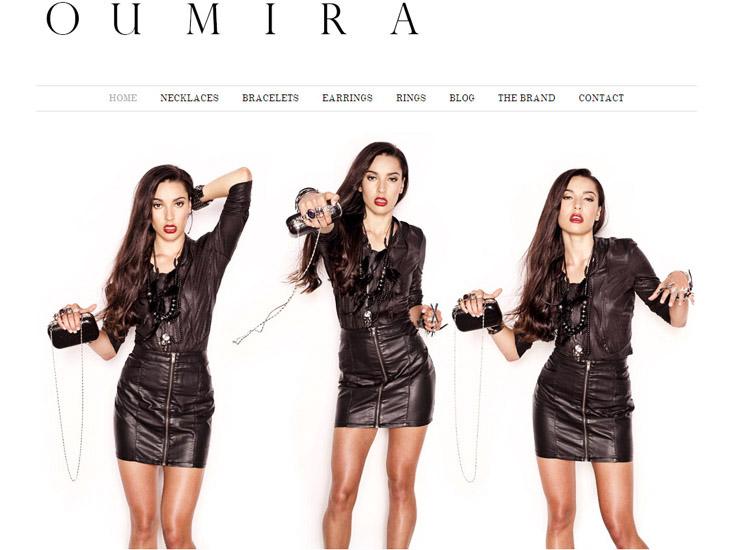 Black beads skulls and leather, Gothic Fashion Jewellery - Oumira Fashion Jewellery