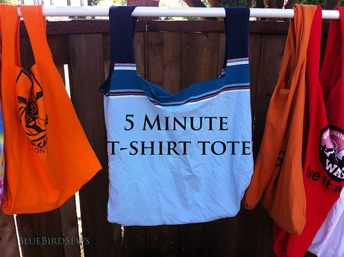 5 Minute T-Shirt Tote Tutorial