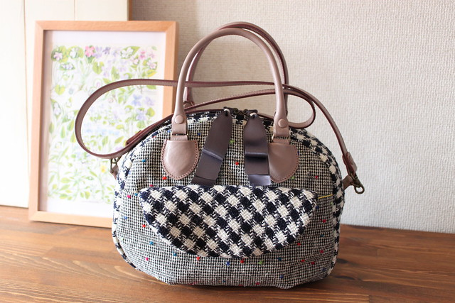 boston bag_dot & check