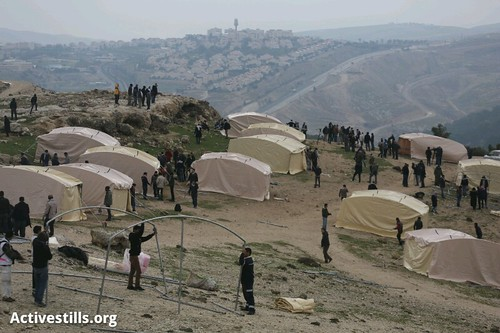 E1 Palestinian camp, West Bank, 11.1.2013