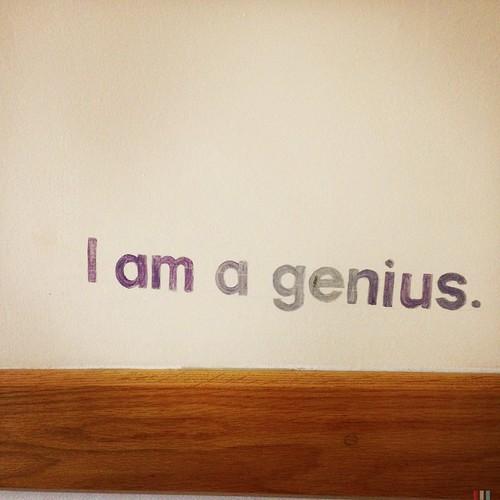 I am a genius