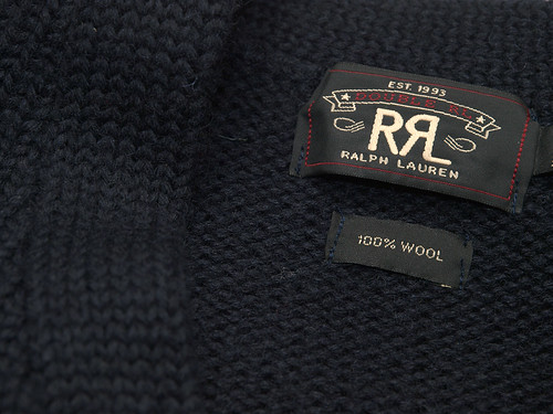 RRL / Shaker Wool Zip Cardigan