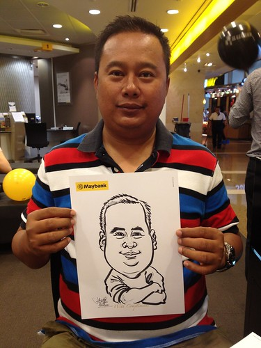 caricature live sketching for Maybank Roadshow - 9