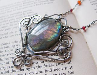Iris Chrysopteron: Rainbow Labradorite Pendant
