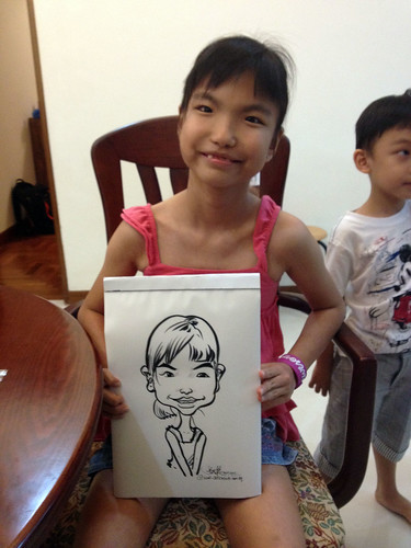 caricature live sketching for birthday party 14072012 - 2