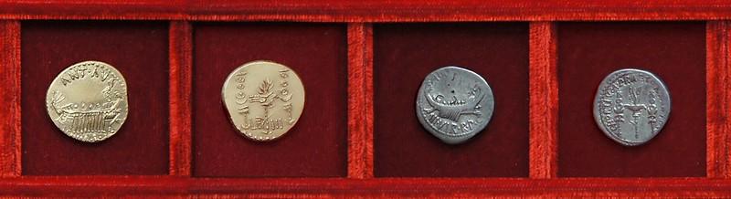 RRC 544-02 replica gold aureus LEG III, RRC 544/8 CHORTIVM PRAETORIARVM Ahala collection Roman Republic