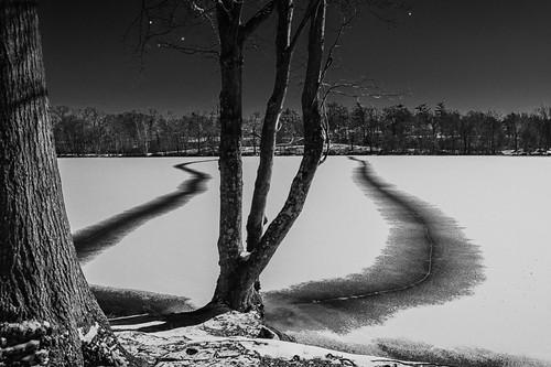 Frozen Pond by rilurky via I {heart} Rhody