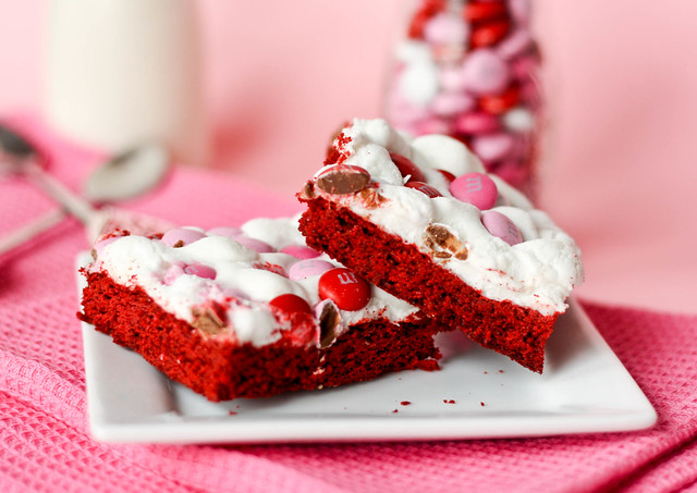 Red Velvet Marshmallow Bars recipe