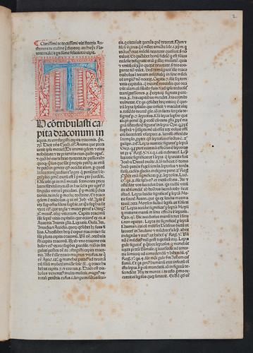 Penwork initial in Antoninus Florentinus: Summa theologica (Pars II)