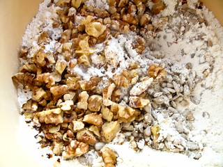 IMG_0299 Walnut + sunflower seeds + flour + baking powder + sugar