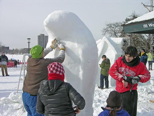 penguin sculpting