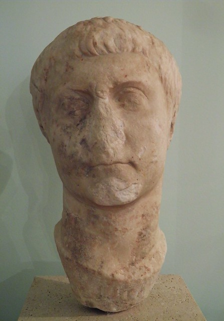 Portrait of a member othe Julio-Claudian dynasty, possibily Drusus the Elder, dating from the 1st century BC / 1st century AD, Civico museo archeologico di Milano
