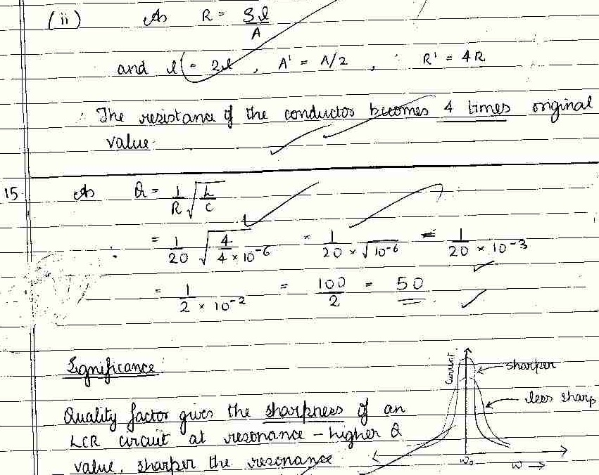 CBSE Class XII Board Exam Model Answers of 2012 Physics