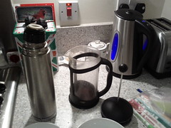 Coffee in a French Press 5