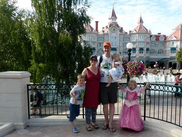 Disneyland Paris family photo