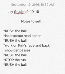 I found Jay Gruden's self note in the restroom. He's probably looking for it.... #Redskins #NFL #Sportscenter #httr #goskins #jaygruden #classic #football #runtheball #dmv