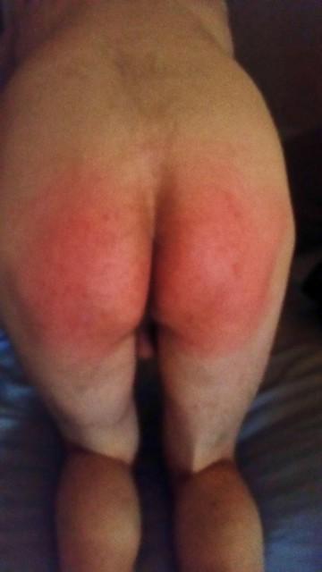 Spanked butt