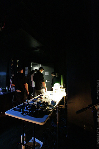 Backstage Preparations for Session 3   TEDxSanDiego 2012