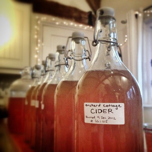 Recovering from the weekend by attending to other boozy necessities: cider bottling!