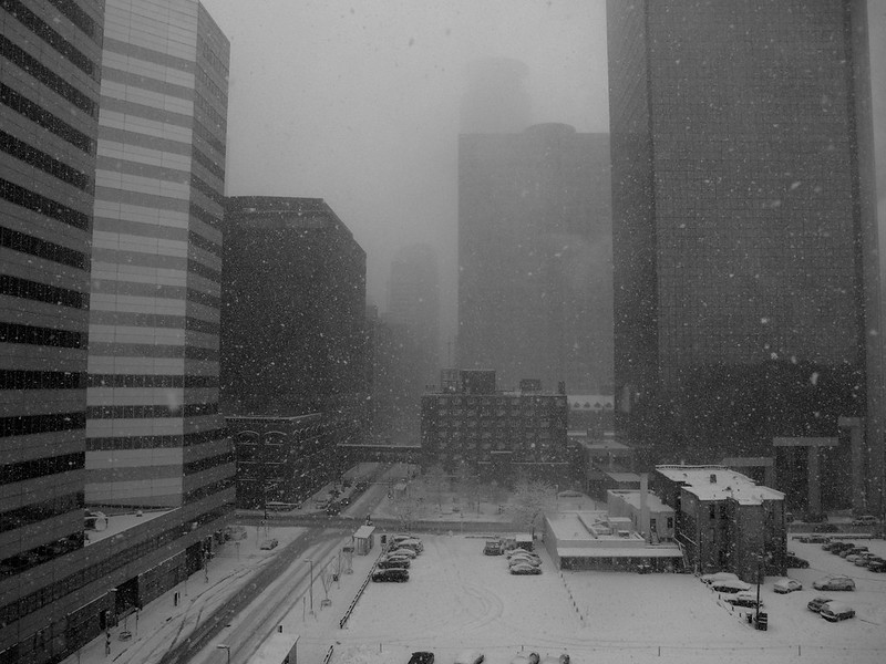 Minneapolis first snowfall of the season