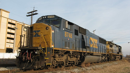 CSX Transportation Company diesel locomotives idling near the Horseshoe Casino.  Hammond Indiana.  Sunday, November 25th, 2012. by Eddie from Chicago