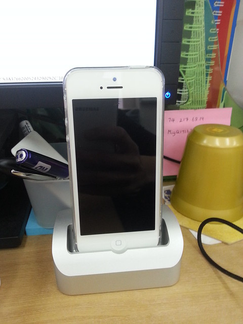 Elevation Dock with Lightning Adapter - iPhone 5 Docked