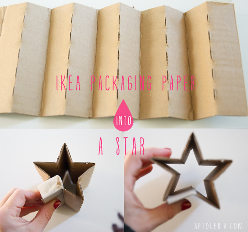 Cartone da imballo Ikea diventa una stella