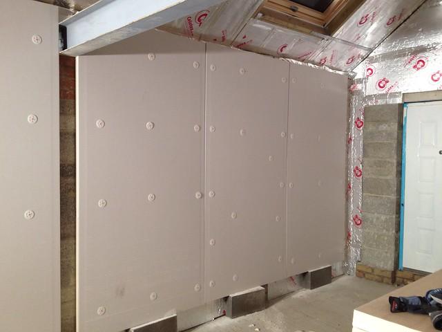 insulating l silvanaus http walls unprecedented ideas com garage finishing