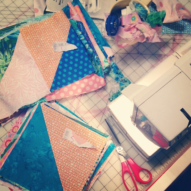 Four strips down, 7 to go! #quiltsbychristmas