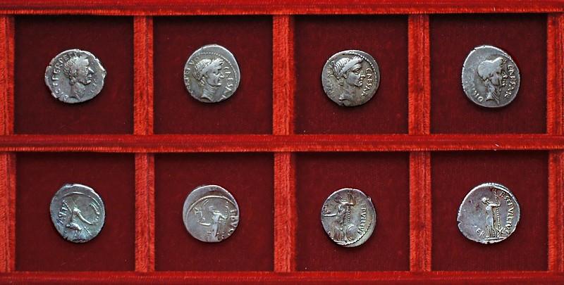 RRC 480-07,8,9,10 CAESAR DICT PERPETVO, BVCA, SEPVLLIVS MACER, Julius Caesar Aemilia, Sepullia, Ahala collection Roman Republic