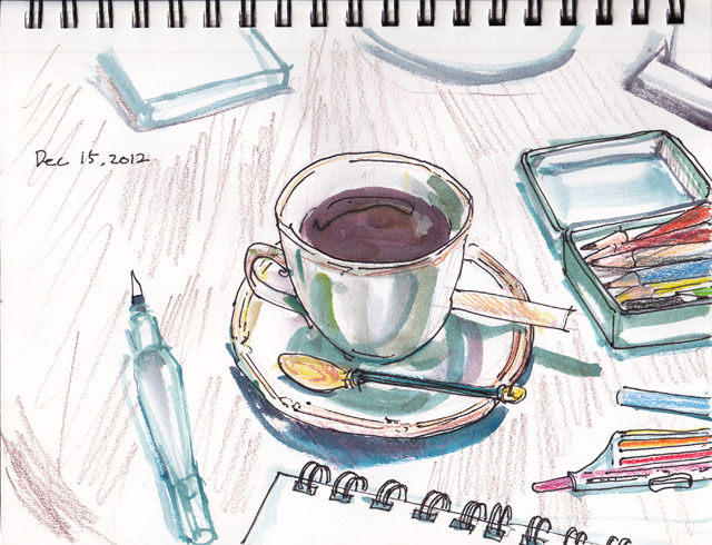 coffee and sketch tool