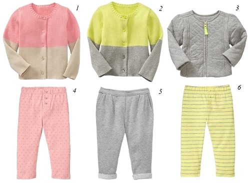 baby clothing girls - cardigans, jacket, leggings and pants