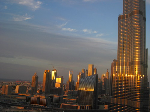 Golden Sunset Over Dubai (Burj Khalifa)