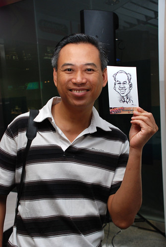 digital live caricature sketching for iCarnival (photos) - Day 1 - 8